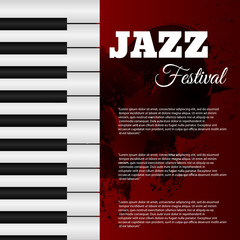 Jazz music festival poster background template eps 10 vector