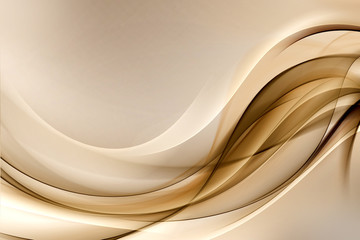 Abstract Gold Waves Luxury Design Background