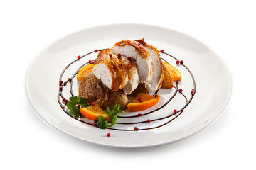 Roast chicken fillet