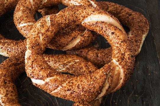 Traditional Turkish bagel - Simit