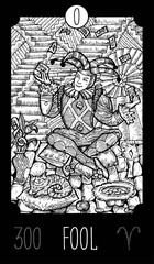 Fool. Tarot card Major Arcana. See all collection in my portfolio
