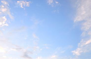 Cloud sky at evening.