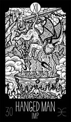 Hanged Man. Imp. Tarot card Major Arcana. See all collection in my portfolio