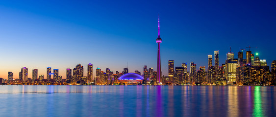 Wall Murals Toronto Toronto city skyline at night, Ontario, Toronto