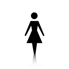 woman icon stock vector illustration flat design