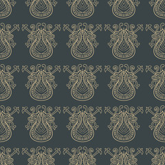 Seamless pattern with abstract ethnic ornament. Vector illustration for design fabric or wallpaper.