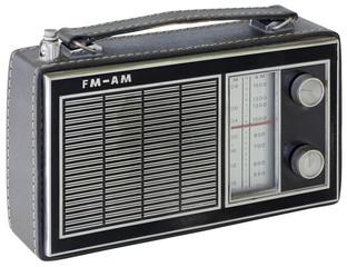 Black Portable Radio Cutout
