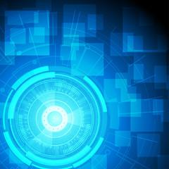 Vector futuristic technology background 500x500 pixels
