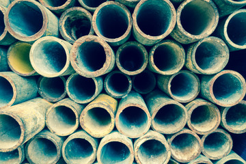Abstract Steel pipes or scaffolding pipes arranged on shelves  for background