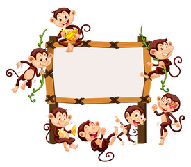 Frame template with monkeys