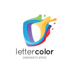 Colorful Letter D Logo Template