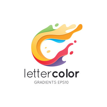 Colorful Letter C Logo Template