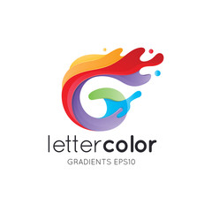 Colorful Letter G Logo Template