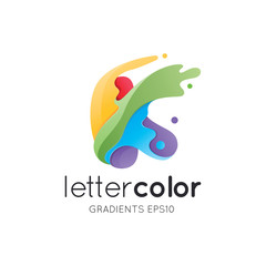 Colorful Letter K Logo Template