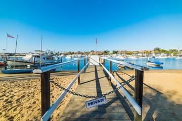 Private jetty in Balboa island