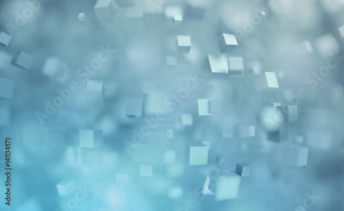 abstract 3d rendering of chaotic cubes flying shapes in empty space dynamic background with. Black Bedroom Furniture Sets. Home Design Ideas