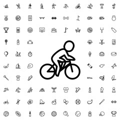 Bicycle icon illustration