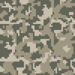 Pixel camo seamless pattern, forest, jungle, urban, green Military camouflages. Vector background, fabric textile print designs for Army Clothing.