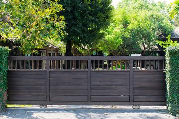 Wooden gate,House gateway