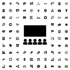 Classroom icon illustration