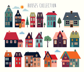 Houses and buildings collection