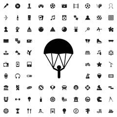 Parachute icon illustration