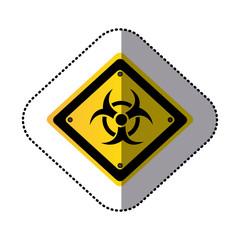 yellow metal biohazard warning sign icon, vector illustration design