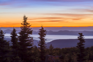 Dawn on the Allegheny Front - view from Bear Rocks at the Dolly Sods Wilderness, West Virginia