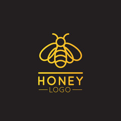 Vector Icon Style Illustration Concept Logo of Bee Farm, Honey Product, Store or Market, Isolated Symbols for Web and Mobile