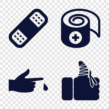 Set of 4 accident filled icons
