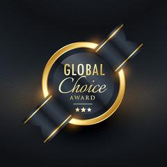 global choice award label and badge design