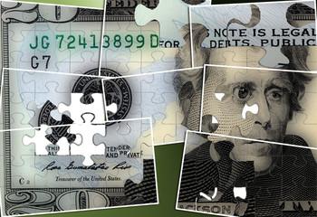 United States Currency Twenty Dollar Bill - Financial security concept
