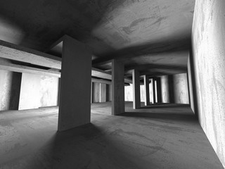 Abstract concrete architecture dark background