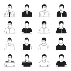 Man icons vector set