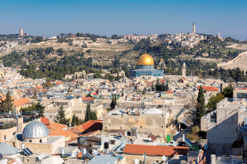 Jerusalem Old City skyline, Israel.