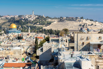 Jerusalem Old City skyline.