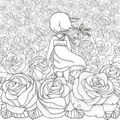 Black and white. Coloring book