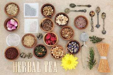 Herb Tea Selection. Also used in herbal medicine.