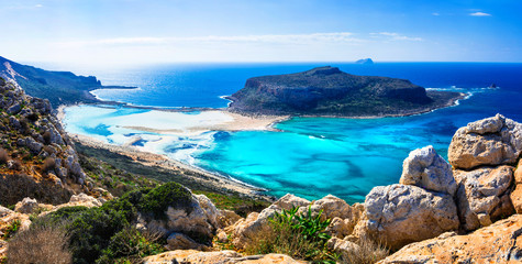 amazing scenery of Greek islands - Balos bay in Crete