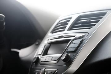 Control panel in a modern car