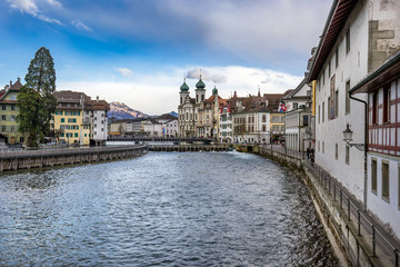 The Old Town of Lucerne in Switzerland