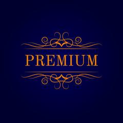 Vintage calligraphic logo template. Identity design for shop, restaurant, beauty salon, boutique or hotel