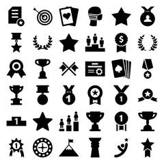 Set of 36 winner filled icons
