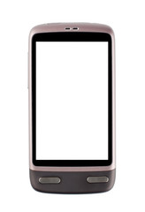 Ols smartphone on white isolated (with clipping path, touch screen  inclusive)