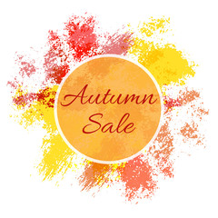 Autumn fall sale poster