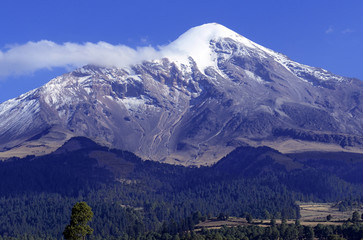Pico de Orizaba volcano, or Citlaltepetl, is the highest mountain in Mexico, maintains glaciers and is a popular peak to climb along with Iztaccihuatl and other volcanoes in the country