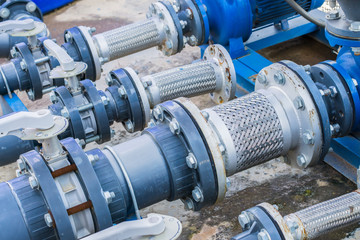 Flex hoses stainless for industrial use. flexible hose for plumbing systems,and to reduce between the pump and pipes.