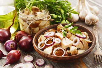 Boletus, pickled mushrooms
