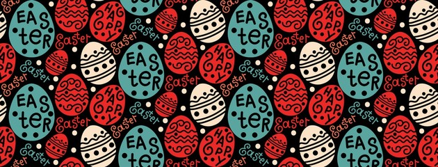 happy easter, colorful pattern, vector
