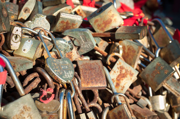 Love locks on Taishan Mountain, China